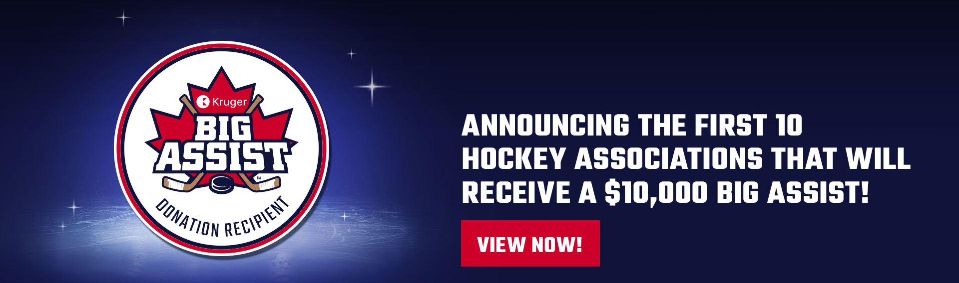 Announcing the first 10 hockey associations that will receive a $10,000 big assist!