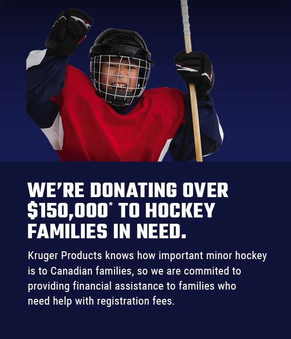 We're donating over $150,000 to hockey families in need.