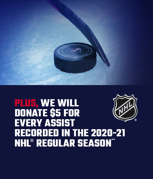 Plus, we will add $5 for every NHL assist recorded in the 2020-21 regular season